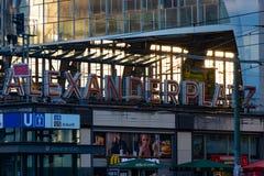 Alexander Place in Berlijn Stock Foto's