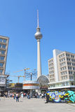 Alexander Platz Royalty-vrije Stock Foto's