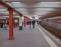 Alexander Platz station in Berlin Stock Photo