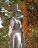 Alexander Pushkin Statue i Baku, Azerbajdzjan Royaltyfria Foton