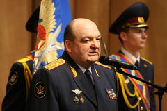 Alexander Reimer. MOSCOW, RUSSIA - DECEMBER 19, 2011: Alexander Reimer - the General-Colonel of internal service. The Director of the Federal service of Stock Photo
