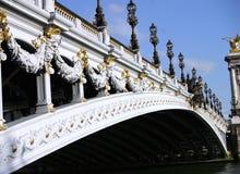 Alexander's bridge. In Paris, France (over Sena River Stock Photo