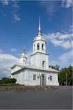 Alexander's church Neva in Volodga (Russia). City square stock images