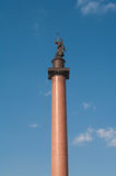 Alexander's Column at Dvortsovaya square in Saint Petersburg, Ru Stock Photo