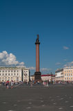 Alexander's Column at Dvortsovaya square in Saint Petersburg, Ru Royalty Free Stock Images
