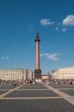 Alexander's Column at Dvortsovaya square in Saint Petersburg, Ru Royalty Free Stock Photography