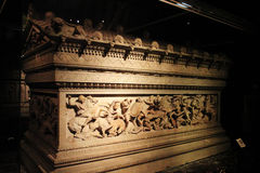 Alexander sarcophagus at the museum of Istanbul Royalty Free Stock Photos
