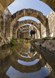 At the center of the ancient city of Smyrna Agora,. royalty free stock image