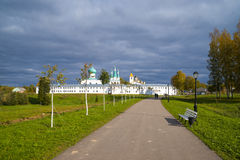 Alexander Svirsky monastery side view in Leningrad region under Stock Image