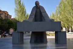 Alexander Tamanian monument. The monument to Alexander Tamanian (famous neoclassicist architect). Cascade, Armenia, Cafesjian Arts Center Stock Image