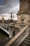 Alexander the Third bridge in Paris Stock Photo
