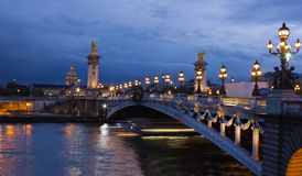 Alexander the Third bridge, Paris Stock Images