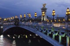 Alexander the Third bridge, Paris stock image