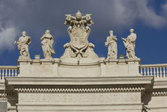 Alexander VII monument on the top of St.Peters Basilica Royalty Free Stock Photos