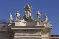 Alexander VII monument on the top of St.Peters Basilica Stock Photo