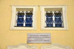 Alexander von Humboldt hus i Salzburg, Österrike Royaltyfri Fotografi