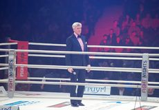 Alexander Zagorski. Entertainer im Ring Lizenzfreie Stockfotografie