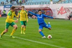 Alexander Zotov (10). MOSCOW - OCTOBER 8, 2016: Alexander Zotov (10) on the soccer game Russian National Football League Dynamo (Moscow) vs Kuban (Krasnodar) Stock Photo