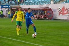 Alexander Zotov (10). MOSCOW - OCTOBER 8, 2016: Alexander Zotov (10) on the soccer game Russian National Football League Dynamo (Moscow) vs Kuban (Krasnodar) Royalty Free Stock Image