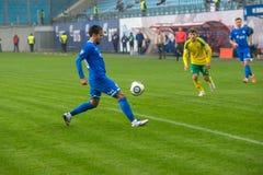 Alexander Zotov (10) no jogo de futebol Imagens de Stock Royalty Free