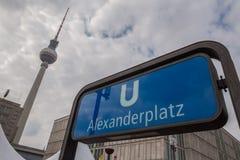 Alexanderplatz柏林德国 免版税库存图片