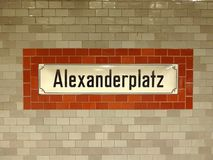 Alexanderplatz, Βερολίνο - διάσημος σταθμός μετρό (Γερμανία, Ευρώπη) Στοκ φωτογραφίες με δικαίωμα ελεύθερης χρήσης