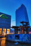 Alexanderplatz στο Βερολίνο, Γερμανία, στο σούρουπο Στοκ Φωτογραφία