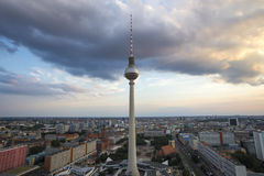 Alexanderplatz berlin germany from above Stock Image
