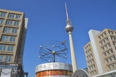 The Alexanderplatz in Berlin Royalty Free Stock Photos