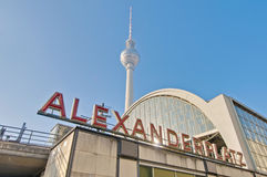 Alexanderplatz, at central Mitte district of Berlin. Stock Photos