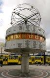 Alexanderplatz clock Stock Photo