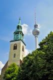 Alexanderplatz em Berlim Fotografia de Stock Royalty Free