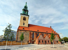 Alexanderplatz in front of St. Mary's Church, Berlin Stock Image