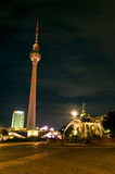 Alexanderplatz full moon Royalty Free Stock Photo