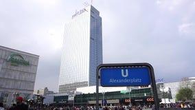 Alexanderplatz kwadrata stacja kolejowa Berlin zbiory wideo