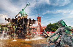 Alexanderplatz-Skulptur-Detail, Berlin - Deutschland Stockbild
