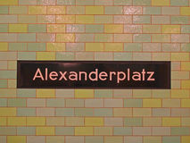 Alexanderplatz subway sign Royalty Free Stock Photos