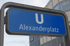 Alexanderplatz - subway sign Royalty Free Stock Image
