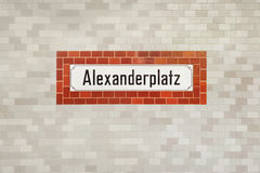 Alexanderplatz subway sign Royalty Free Stock Image
