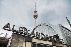 Alexanderplatz subway station in Berlin. Germany royalty free stock photography