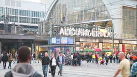 Alexanderplatz subway station in Berlin. BERLIN - OCTOBER 2: Alexanderplatz subway station on October 2, 2014 in Berlin, Germany. It's a large public square and stock video