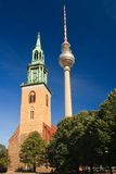 Alexanderplatz and Towers Stock Photography