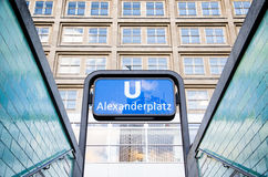 Alexanderplatz U-Bahn Station. A view from the exit of the Alexanderplatz U-Bahn station, where hundreds of visit every day Royalty Free Stock Image
