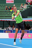 Alexandr Dolgopolov at an Exhibition Focuses on the Ball during Contact Royalty Free Stock Photography