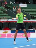 Alexandr Dolgopolov hits a high Forehand Royalty Free Stock Image