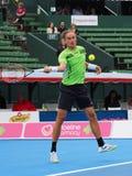 Alexandr Dolgopolov uderza wysokiego forehanda Obraz Royalty Free