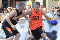Alexandr Pavlov - basquetebol 3x3 Imagem de Stock Royalty Free