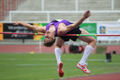 Alexandr Shustov - high jump Stock Images