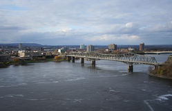 Alexandra-Brücke Ottawa stockbilder