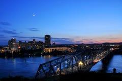 Alexandra-Brücke und Gatineau, Ottawa lizenzfreie stockfotos